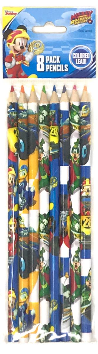 Mickey Roadsters 8 Piece Colored Pencils