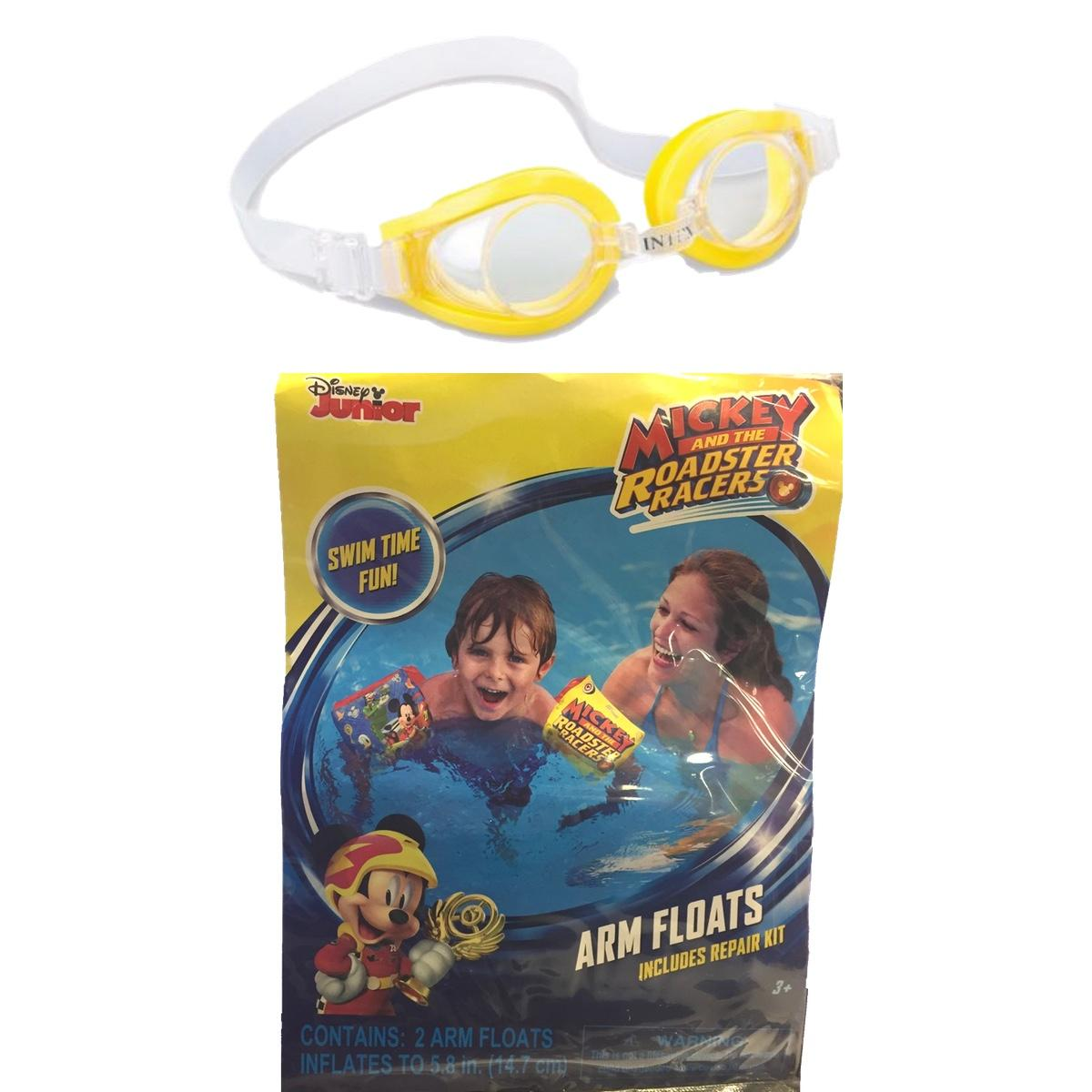 Mickey and The Roadster Racers Swimming Arm Floats and Goggles