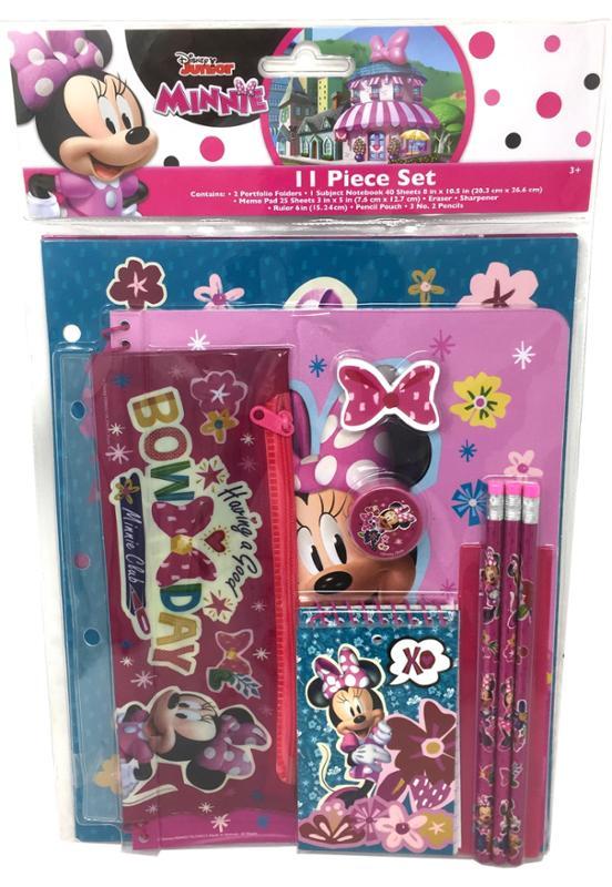 Minnie Bow-Tique 11 Piece Stationery Set