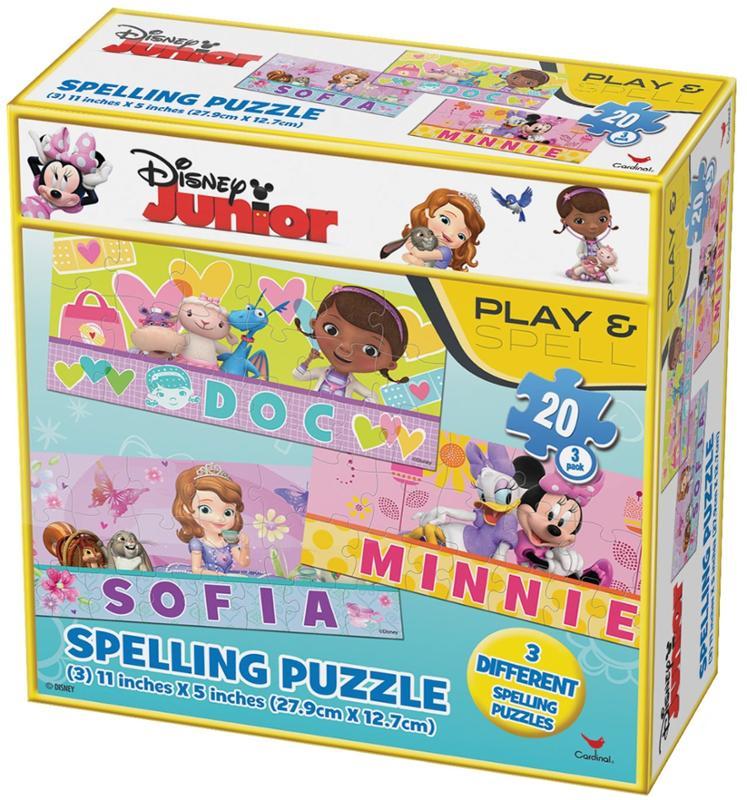 Disney Junior Spelling Puzzles