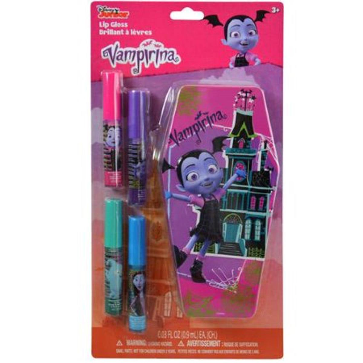 Vampirina 4 Pack Lip Gloss with Coffin Tin