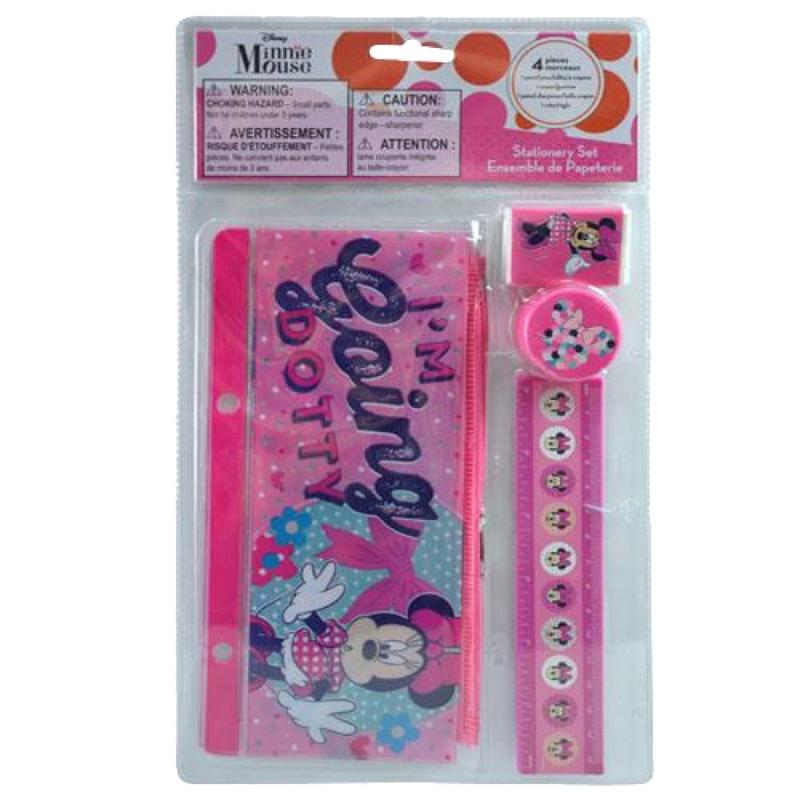 Minnie Stationery, Color Pencils and Diary Gift Set