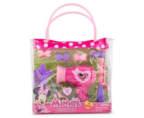 Minnie Mouse Bowtique Pink Hair Beauty Tote