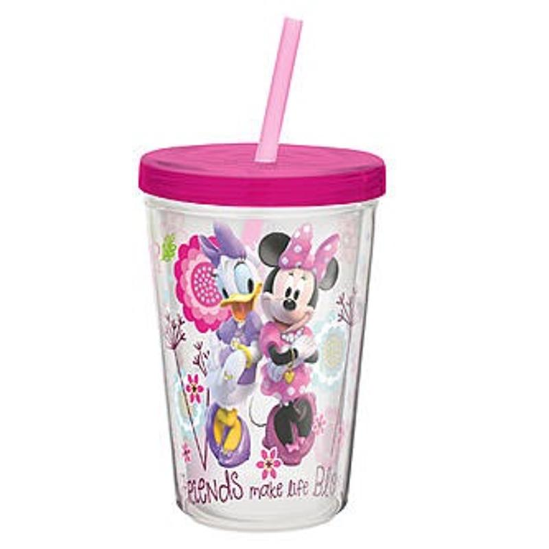 Minnie Mouse and Daisy Insulated Tumbler With Straw