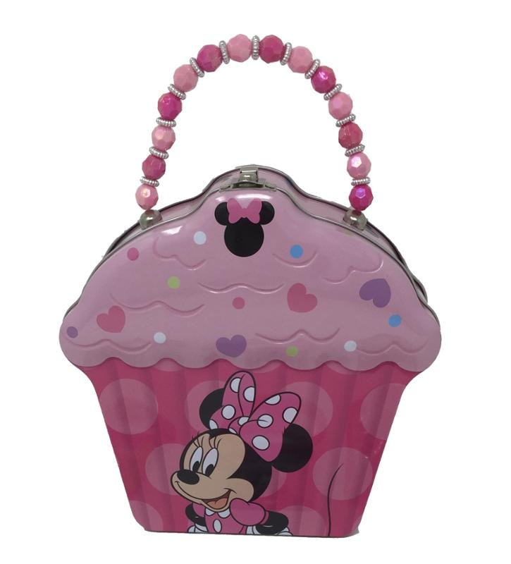Minnie Mouse Cupcake Tin - Bracelets and Rings 9 Piece Bundle