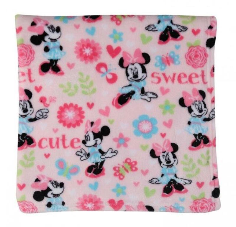 Minnie Mouse Super Soft Fleece Blanket, Pink