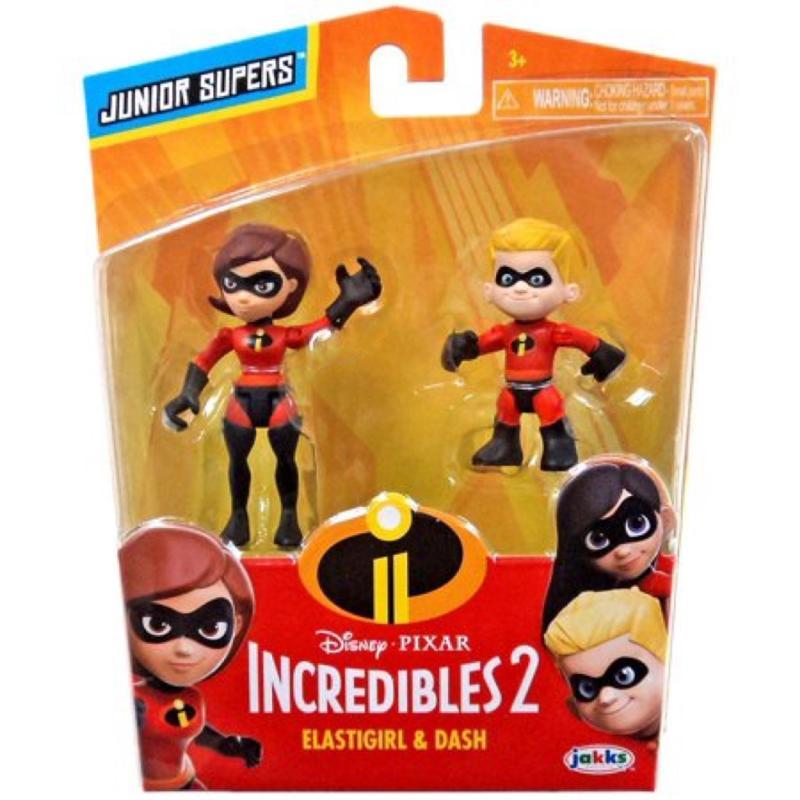Disney Pixar Incredibles 2 - Elastigirl and Dash 3 Inch - 2 Pack Figures In Box