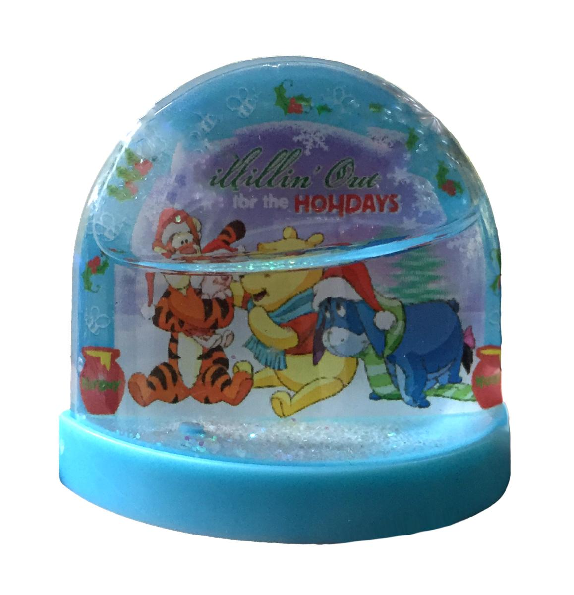 Pooh Lenticular Plastic Holiday Snowglobe