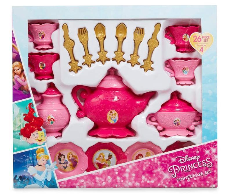 Disney Princess 26 Pieces Dinnerware Tea Set