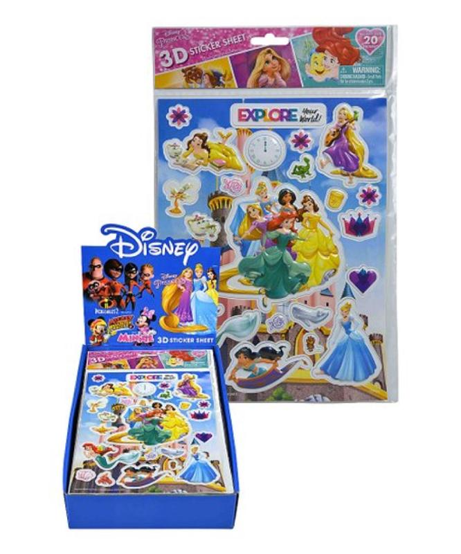 Princess 3D Sticker Sheet