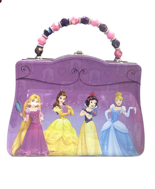 Princess Purple Tin Purse Rapunzel Belle Snow White and Cinderella
