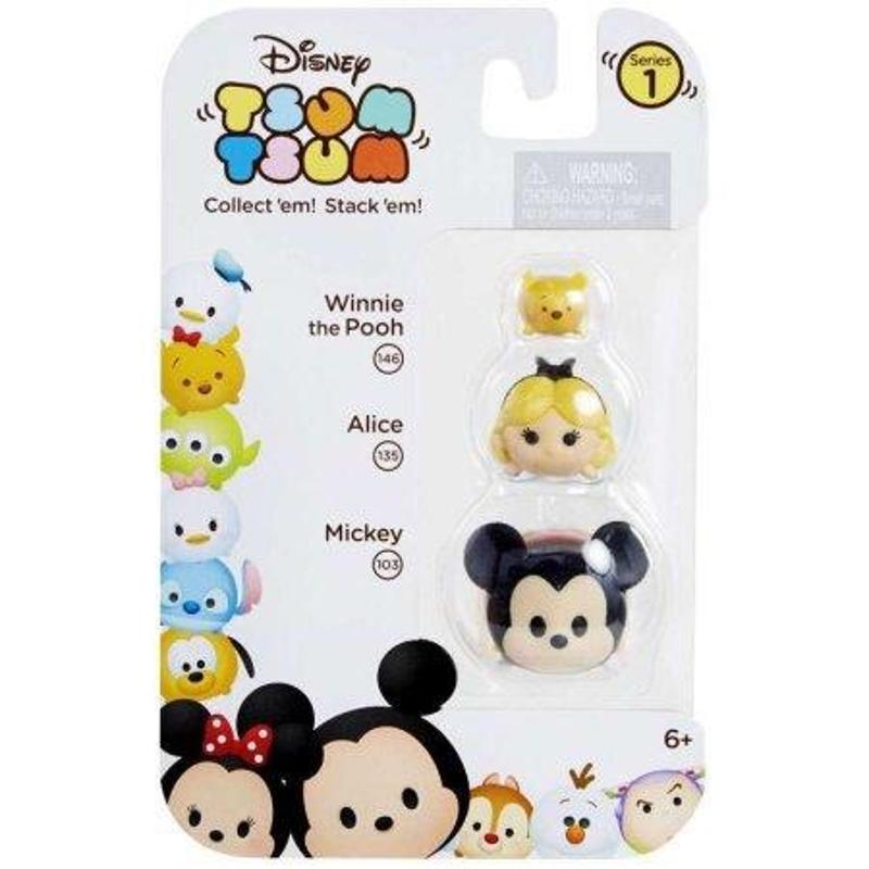 Tsum Tsum Figures - Mickey Alice Winnie the Pooh