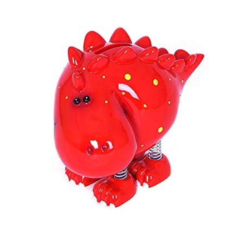 Dinosaur Coin Bank - Red Stegosaurus