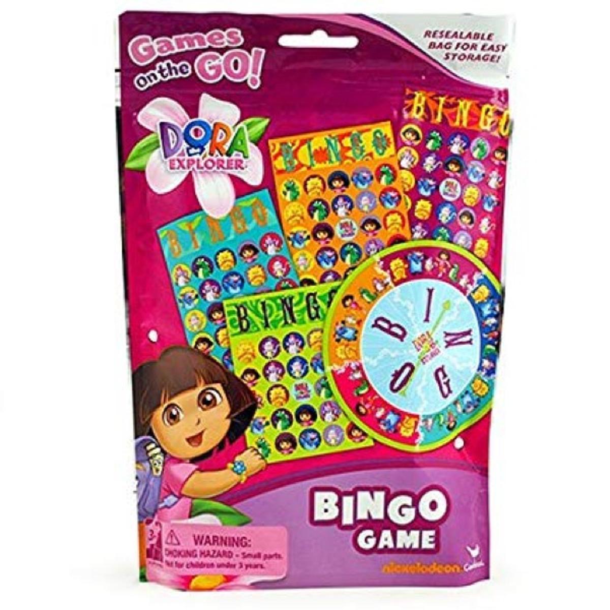 Dora The Explorer Bingo Game Resealable Bag
