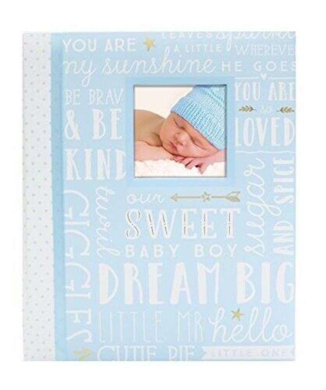Dream Big Wordplay Baby Record Book Blue
