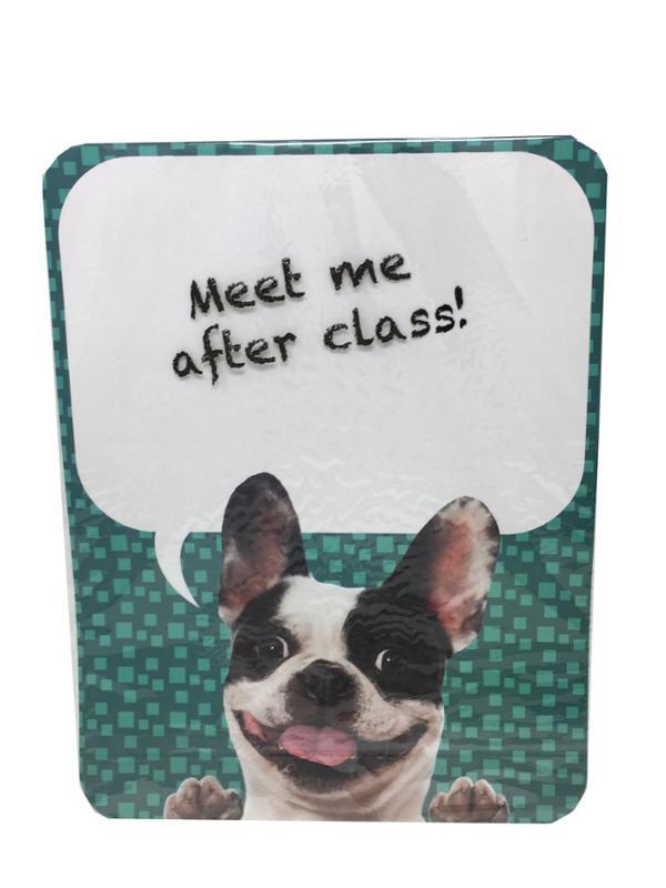 Dry Erase Locker, Refrigerator Magnet Boston Terrier