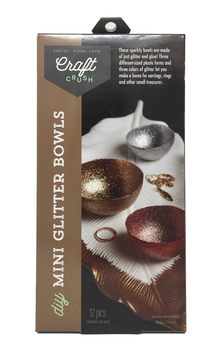 DYI Mini Glitter Bowls