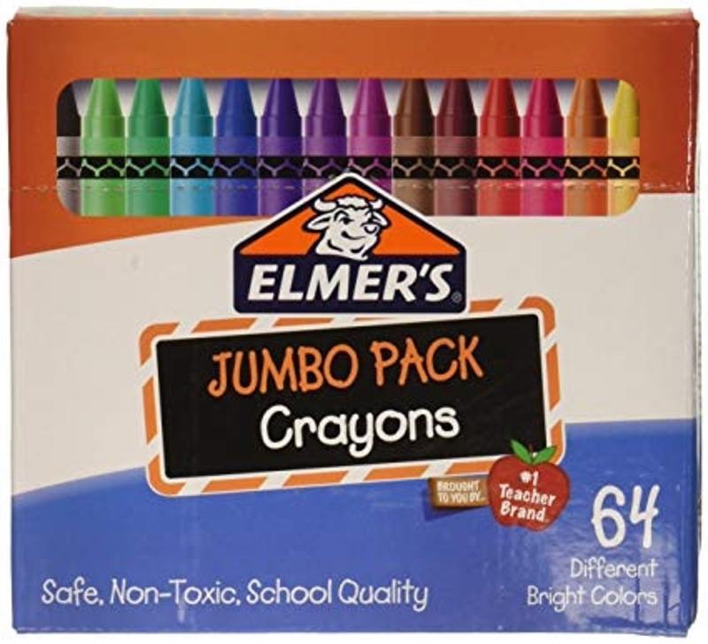 Elmers Crayons 64 Pack