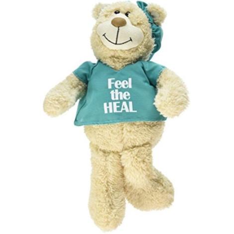 Feel the Heal Teddy Bear in Scrub (Blue/Green)
