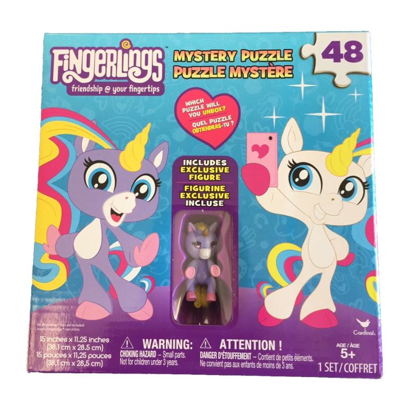 Fingerlings Unicorn Surprise 48-pc Puzzle Box with Purple Unicorn Figure