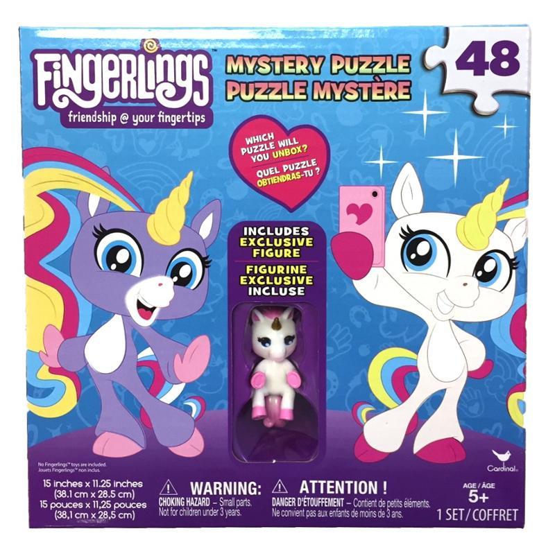Fingerlings Unicorn Surprise 48pc Puzzle Box with White Unicorn figure
