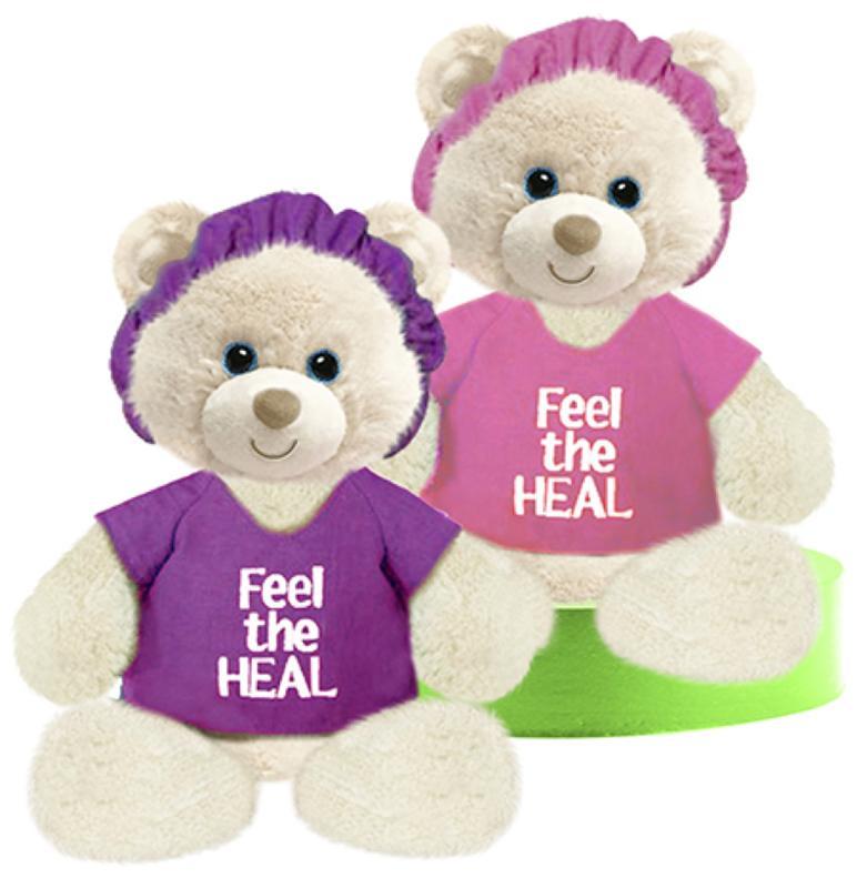 Feel the Heal Plush Bear (Pink/Purple)