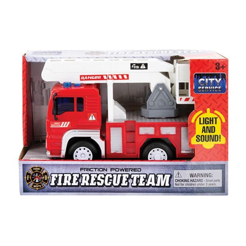 Friction Fire Truck with Light and Sound