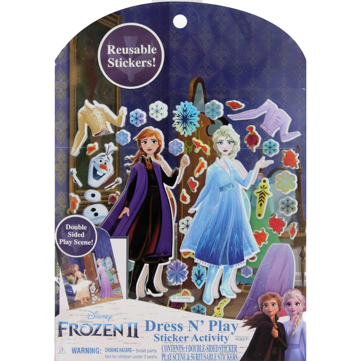 Frozen 2 Dress N Play Sticker Activity