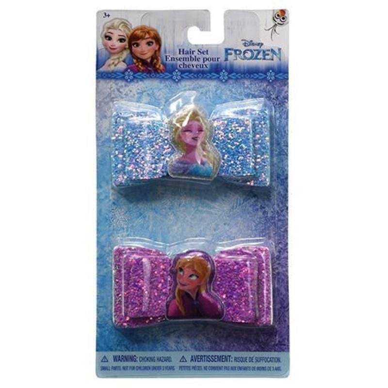 Frozen 2 Pack Hair Clip Bows