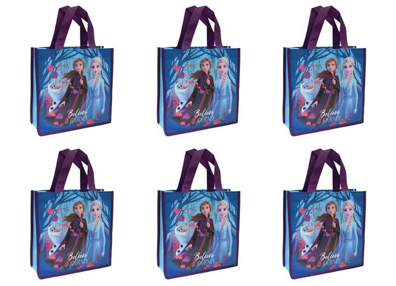 Frozen 2 Small Eco Friendly Totes 6 Pack Bundle