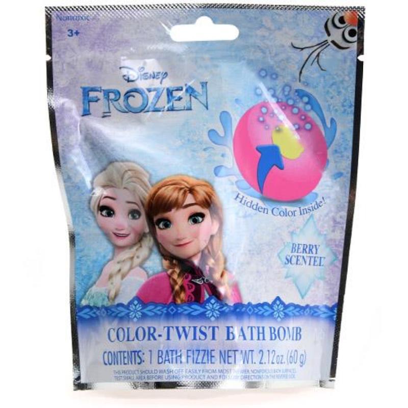 Frozen Color Twist Bath Bomb