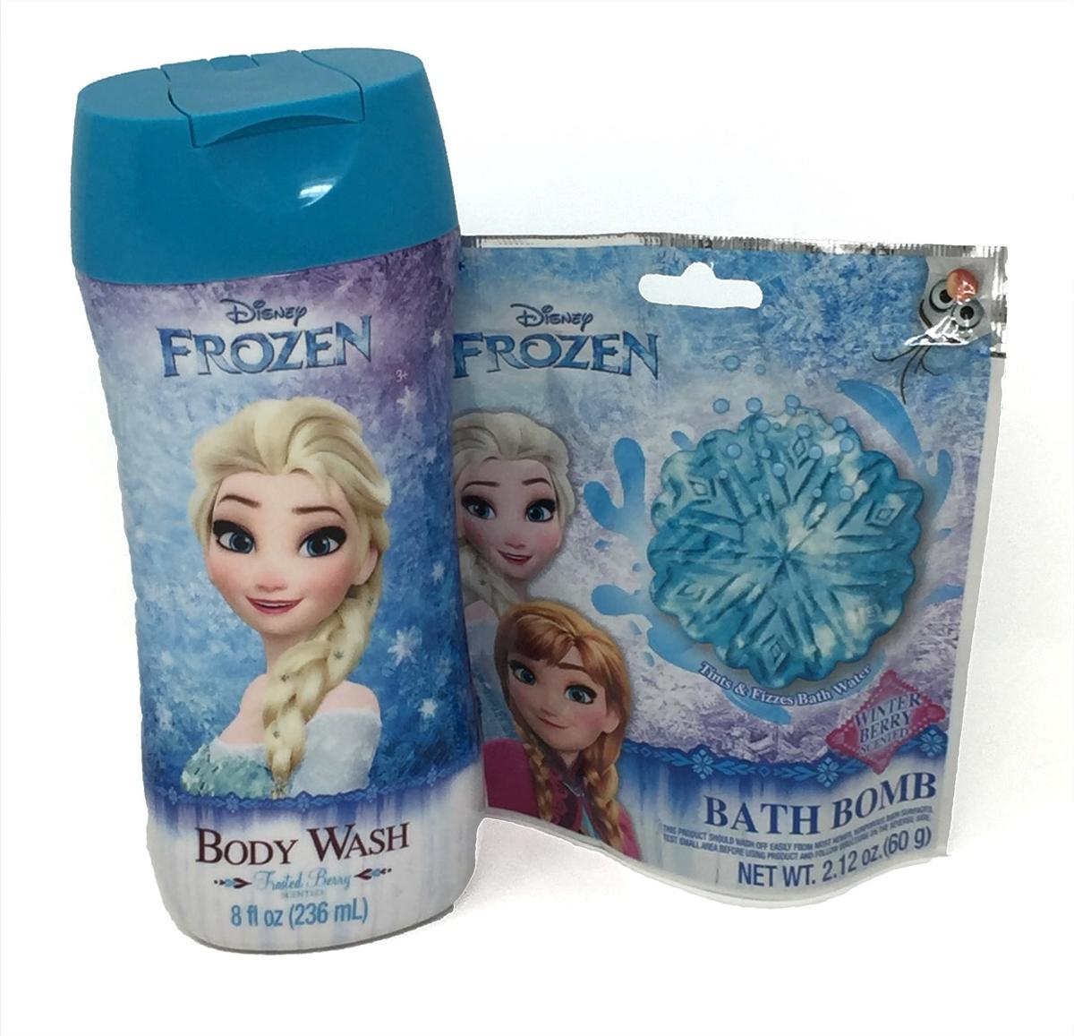 Frozen Frosted Berry Body Wash And Bath Bomb Bundle