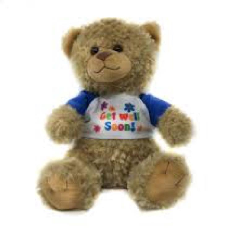 Get Well Soon Teddy Bear Brown 11 Inch