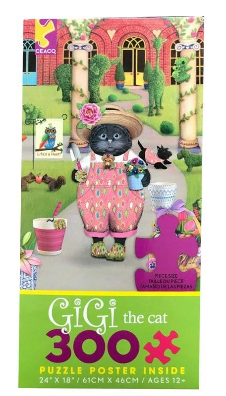 Gigi The Cat in the Garden 300 Pieces