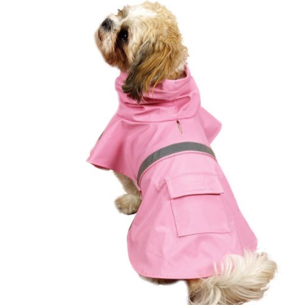 Dog Rain Coat Pink XL