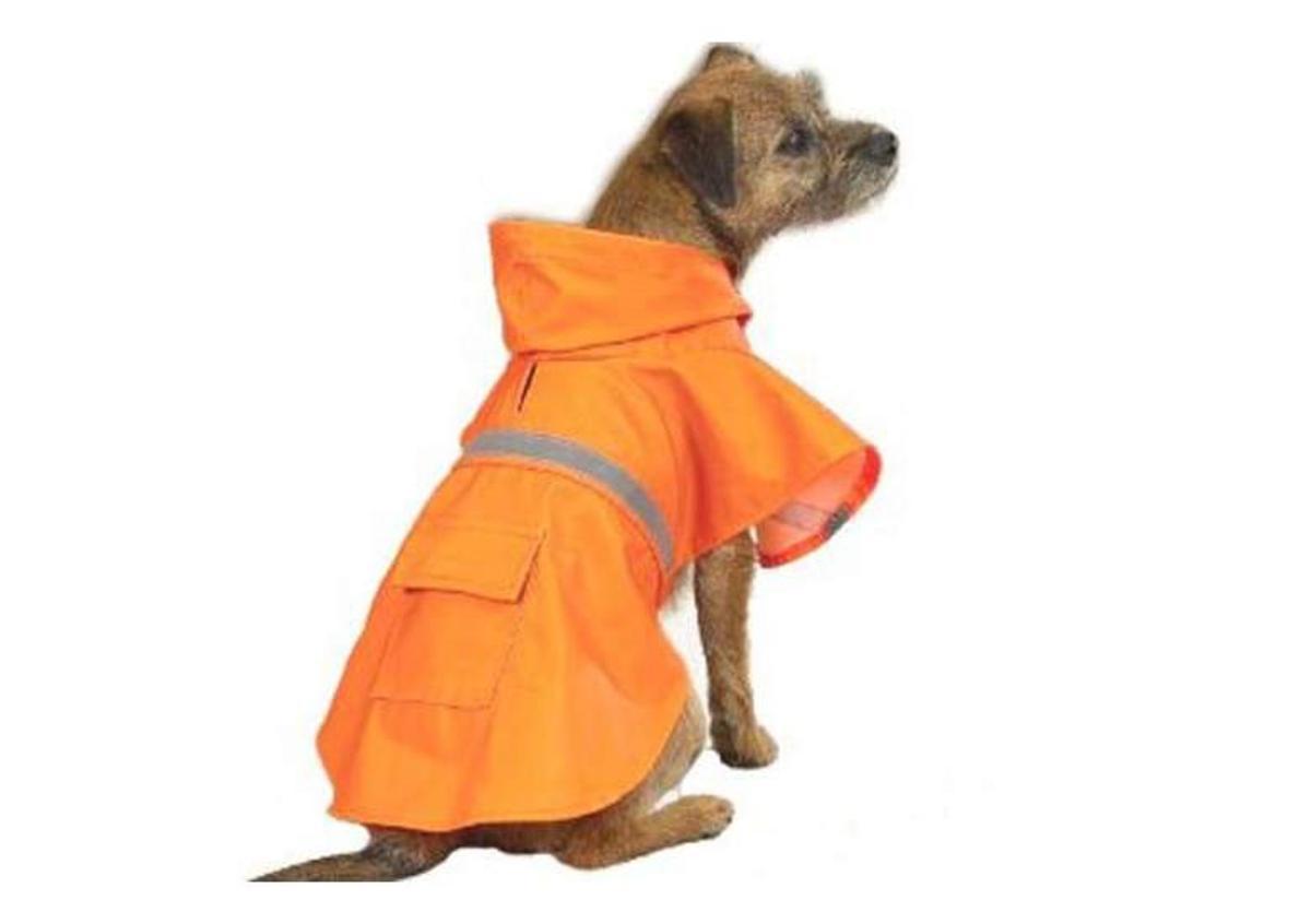 Dog Rain Coat XXS Orange