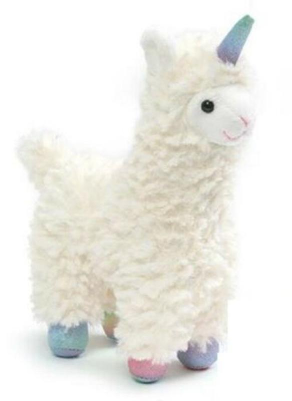 7 Inch White Llamacorn with Magical Sound