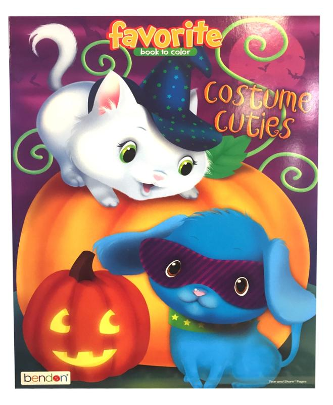 Halloween Coloring Books, Boo, Spooky Kitty, Costume Cuties, 3 Pack