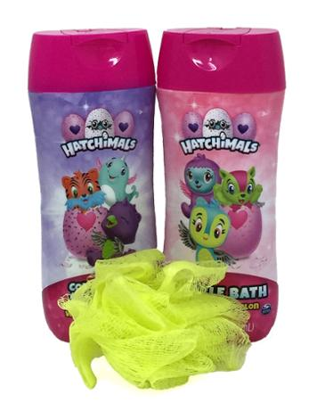 Hatchimal Bubble Bath, Conditioning Shampoo and Pouf
