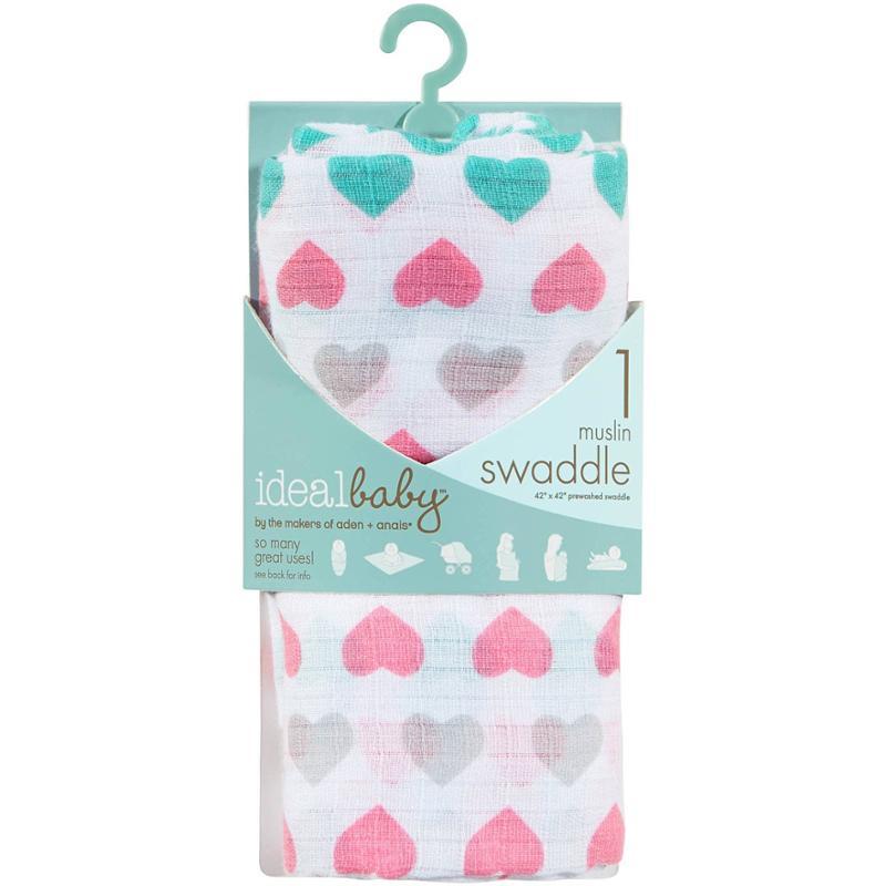 Heart Pretty Sweet Muslin Swaddle Blanket