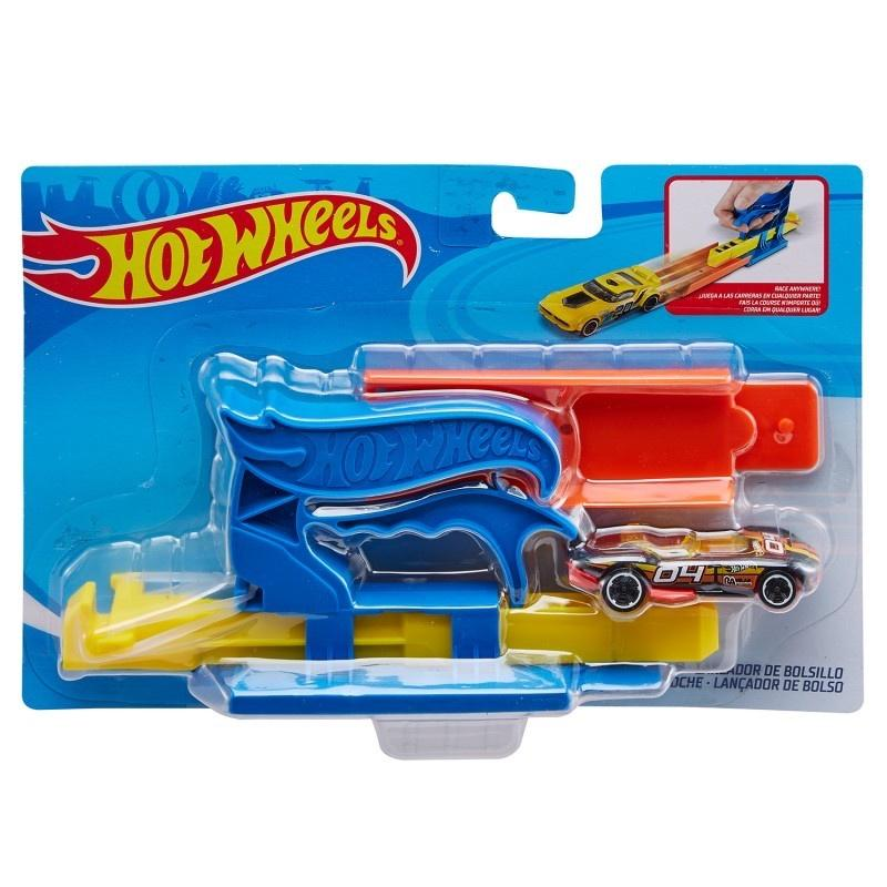 Hot Wheels Pocket Launcher Blue