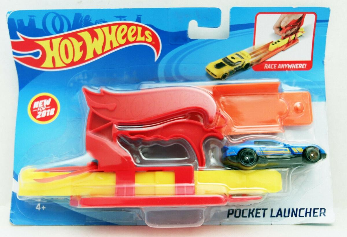 Hot Wheels Pocket Launcher Red