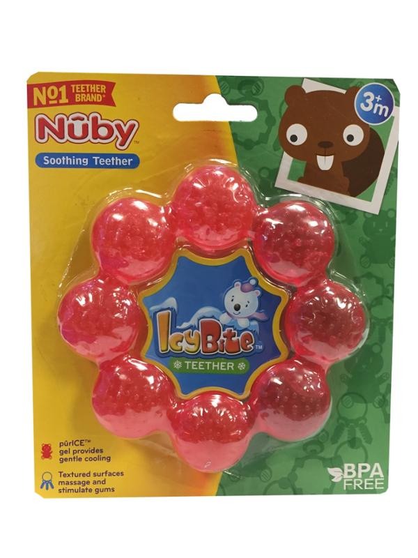 IcyBite Teether Ring Red