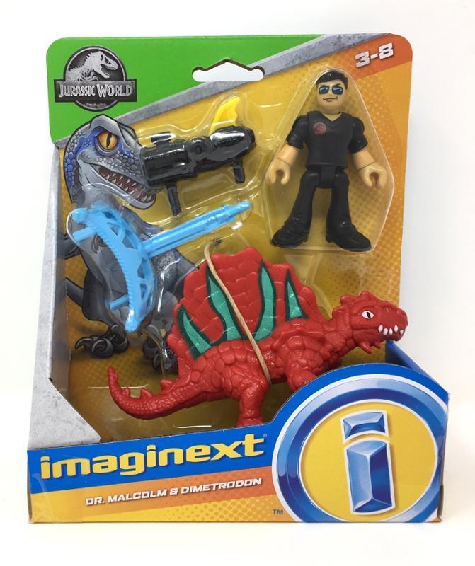 Imaginext Jurassic Dr. Malcolm and Dimetrodon