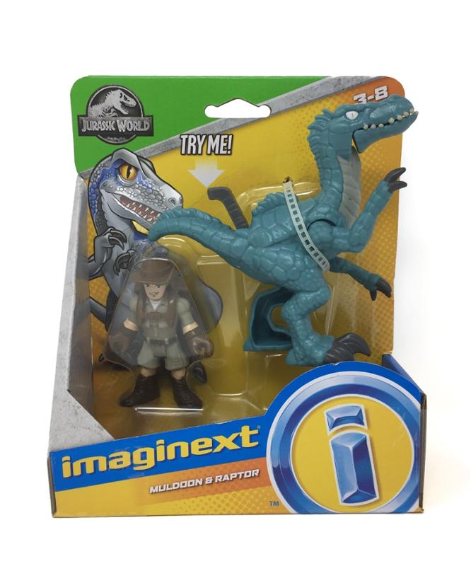 Imaginext Jurassic Muldoon and Raptor