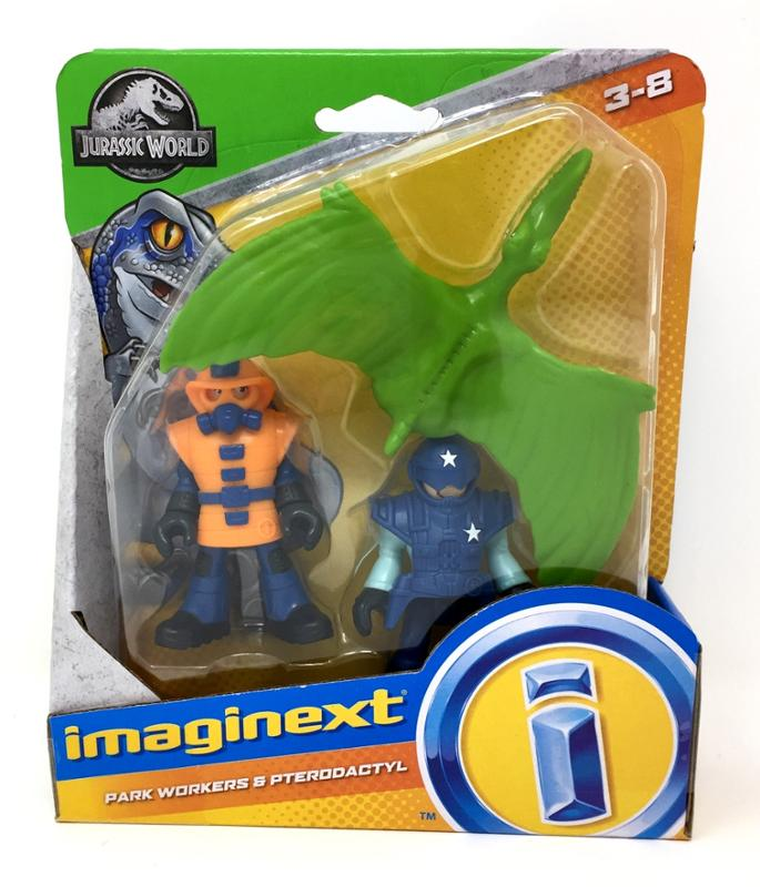 Imaginext Jurassic Park Workers and Pterodectyl