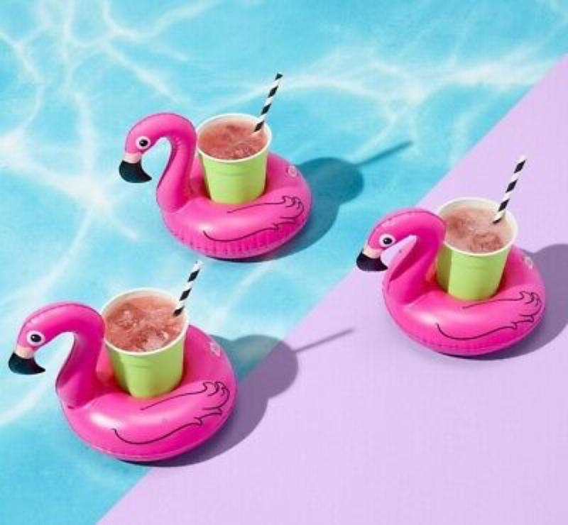 Inflatable Pink Flamingo Beverage Boats