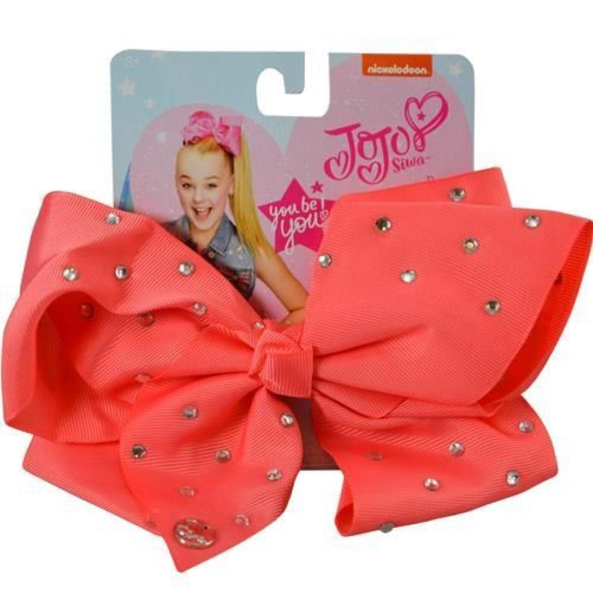 JoJo Siwa Coral Bow and All Over Star Stone