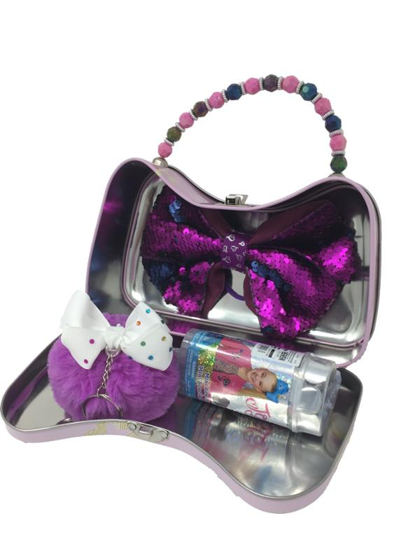 JoJo Siwa Live to Dance Tin Purse, Mystery Bow, Key Chain and Mini Bow Surprise
