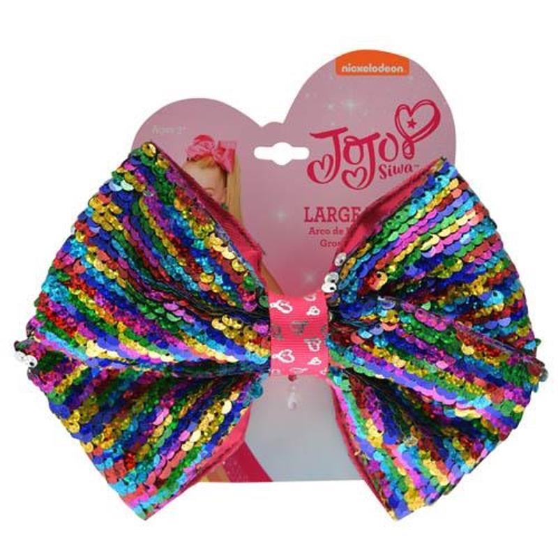 JoJo Siwa Hair Bow with Reversible Sequin - Rainbow Style
